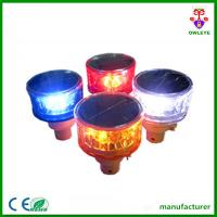 Quality PC body solar traffic led flashing warning light for sale