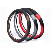 Quality New material car steering wheel cover made by super fiber leather in various colors for sale