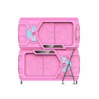 Quality Pink Safe Space Capsule Bed Double - Deck Intelligent LED Light for sale