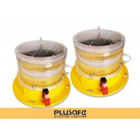 Quality Led Battery Operated Aircraft Warning Lights Fresnel Lens 3KM Visual Distance for sale