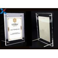 Buy Clear Acrylic Photo Frame A4 A3 Certificate / Business License Frame at wholesale prices