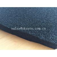 China EPDM foam rubber sheet black color , open cell rubber sheet for insulation on sale
