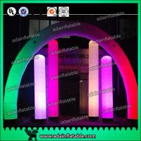 Quality 3M Valentine's Decoration Inflatable Arch Lighting Inflatable Column With RGB Color for sale