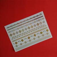 China Temporary Body Gold And Silver Foil Metallic Tattoo / Flash Tattoo For Adult on sale