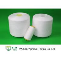 Quality Dyed Color / Bleached White Spun Polyester Thread For Sewing Garment for sale