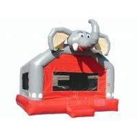 Buy Amusement Park Cute Elephant Huge Bounce House , Small Indoor Bouncy Castle Hire at wholesale prices