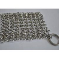 Buy cheap Round Stainless Steel Ring Mesh / Chainmail Scrubber For Cleaning Kitchenware from wholesalers