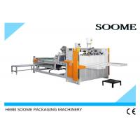 Quality Semi - Automatic Box Folder Gluer Machine Manual Operation 2600mm Packaging for sale