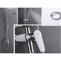 China Wall Mounted Bathroom Faucet Sets , Soft Tube 1.5m Bathroom Shower Faucet Set on sale