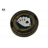 China Bronze Plating Poker Chip Challenge Coins Customised Copper Heavy Weight for sale