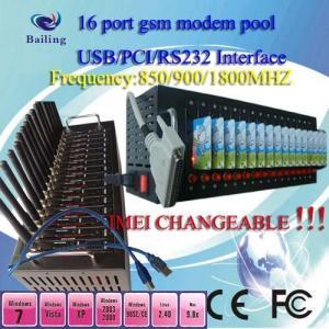 Quality PCI 16 ports GSM/GPRS SMS modem pool (siemens/wavecom module ) for sale