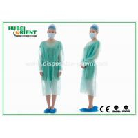 Quality Disposable Protective Sterilized Surgical Gown / Disposable Isolation Gown with Knitted Wrist for sale