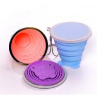 Quality BPA Free Food Grade Collapsible Silicone sport cup with long lanyard for sale