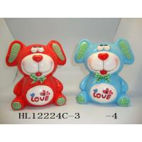 Quality Customized Logo Teddy Bear Coin Bank , Unique Cute Piggy Banks Heavy Dolomite Material for sale