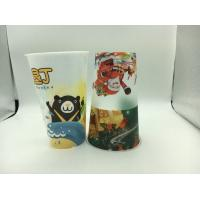 Custom Promotional 3D Lenticular Cup Food Grade , Plastic Drinking Cups