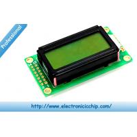 Quality Basic 8x2 Character LCD Display Black on Green 3.3V , HD44780 display screen for sale