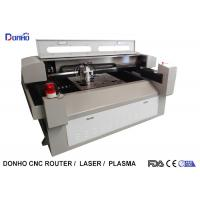 China Metal / Fabric Laser Cutting Machine , Industrial CNC Fabric Cutter With Alarm Light on sale
