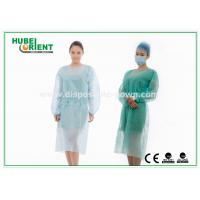 Quality Medical Protective Clothing / Blue Yellow Surgical PP Isolation Gown for sale