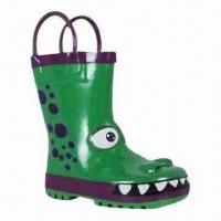 China Children's Rubber Rain Boots, Customized Designs are Accepted on sale