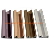 China C Shaped Aluminium Cabinet Door Profiles Lightweight For Crystal Steel Shutter on sale