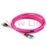 Quality 3 / 5 meters FC - FC multi mode duplex fiber patch cord OM2 / OM3 / OM4 3.0 cable for sale