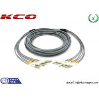 Quality Multi Mode LC to LC 6 Cores Armored Fiber Optic Patch Cord Insertion Loss 0.2dB 3.0 mm Diameter for sale