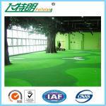 Quality Green Outdoor Artificial Grass Carpet Backyard Turf NET Flat Shape 3'' / 4'' for sale