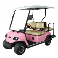 Quality 4 Seater Pink Electric Golf Car for sale