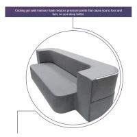 Quality Grey Modern Foam Pull Out Sofa Bed Comfortable Relax Queen Size / Twin Size for sale