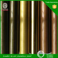 Foshan Manufacturer Ti color stainless steel pipes tubes in different metal colors