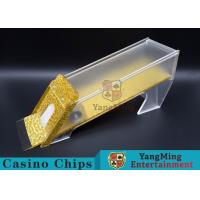 Quality Anti - Cheating Casino Card Shoe / 8 Deck ShoeWith Customized Logo Print for sale