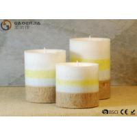 Quality Mini Lovely 3 Set Flameless Pillar Candles Battery Operated Creative Lighting for sale
