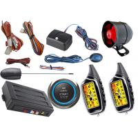Quality Two Way Car Alarm System With Start Stop Engine Button , Anti Robbery Auto Security Alarm Systems for sale