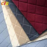 Buy cheap Ultrasonice Embossed Fabric with Sponge / Brushed Fabric for Car Seat / Sofa / from wholesalers