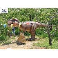 Buy Eyes Blink Dinosaur Lawn Ornament , Life Size Animal Statues For Amusement Park at wholesale prices