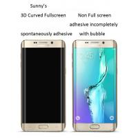 Quality Samsung Galaxy S6 Edge tempered glass screen protector Edge to Edge full coverage 0.33mm ultrathin oleophobic coating for sale