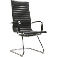 Quality Modern High Back Office Meeting Chairs Without Wheels PU And PVC Covered for sale
