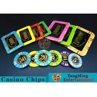 Quality Round Shape RFID Casino Chips / Casino Poker Chips With Good Wear Resistance for sale