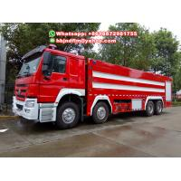 Quality 20-25tones 8x4 drive Sinotruck heavy duty fire fighting truck for sell for sale