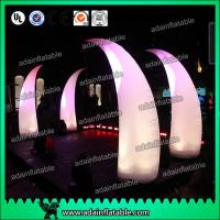 Quality 3M Romantic Wedding Event Entrance Inflatable White Lighting Inflatable Tusks for sale