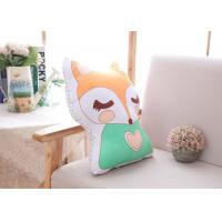 Quality Cotton Cute Plush Pillows Fully Filling Fox Plush Pillow For Little Girl Gift for sale