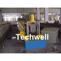 Quality PLC Frequency Control Steel Hat Channel Roll Forming Machine With 0-15m/min Forming Speed for sale