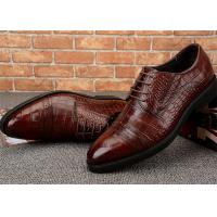V Open Elastic Classic Dress Shoes Semi Brogues Lace Up Rubber Outsole