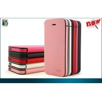 China Leather Flip Wallet Iphone 5C Protective Cases Durable PU  TPU Luxury Lichi Pattern on sale