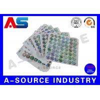 Quality Silver Background Custom Holographic Stickers Security Printing For Pharmaceutical Secure Packaging for sale