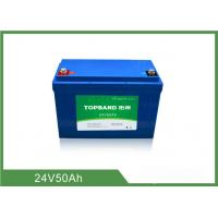 Quality 2000 Cycles Life Electric Industrial Forklift Batteries 24V 50Ah Nano LiFePO4 Material for sale