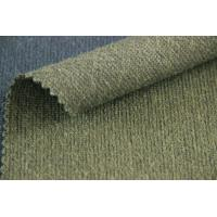 Buy Green Color Woven Cloth Reversible Summer Weight Wool Fabric For Jackets at wholesale prices