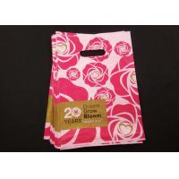 Quality Recyclable Plastic Die Cut Handle Shopping Bags Rose Design Non Toxic Tasteless for sale