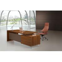 Brown Executive Desk 200cm With Extention Modesty And Mobile Pedestal