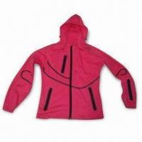 Quality Ladies' Jacket with Three-layer Soft Shell, Membrane and Knit Fabric for sale